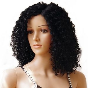 Accessories - 16inch curly bob lace front wig